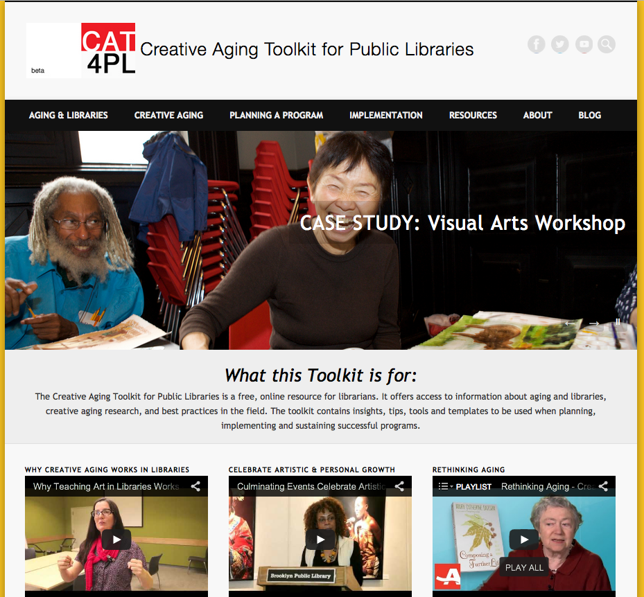 Creative Aging Toolkit for Public Libraries - Lifetime Arts, Inc.